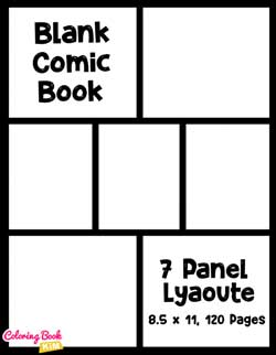Blank Comic Books Draw Your Own Comics And Create The Best Stories