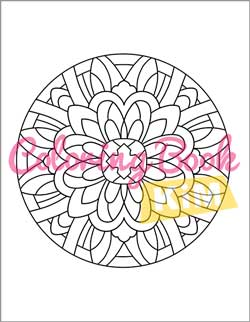 Simple Mandalas Coloring Book With Easy And Simple Patterns For Adults