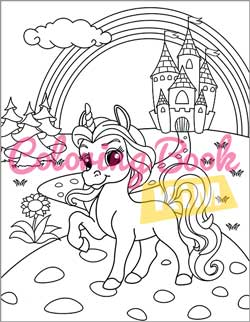 Unicorn Coloring Book Coloring Book For Kids Ages 4 8