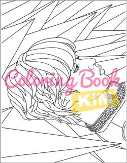Kpop Coloring Book A Collection Of Portraits And Dance Scenes